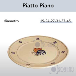 Piatto Piano con Galletto Salentino by Zerosalento