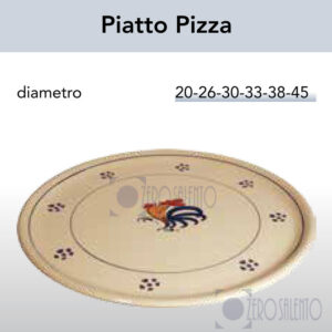 Piatto Pizza con Galletto Salentino by Zerosalento