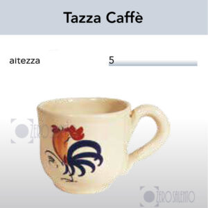 Tazza Caffè con Galletto Salentino by Zerosalento