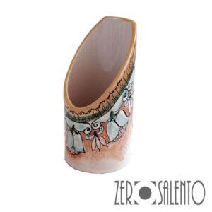 Terracotta Porta Bicchieri motivoi floreale