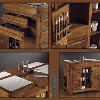 Mob002 Mobili - Tavolo lavoro da Cucina con marmi e cassetti particolari