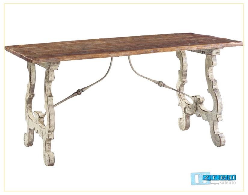 Tavolo fratino laccato e smontabile for Piano casa per 1000 piedi quadrati