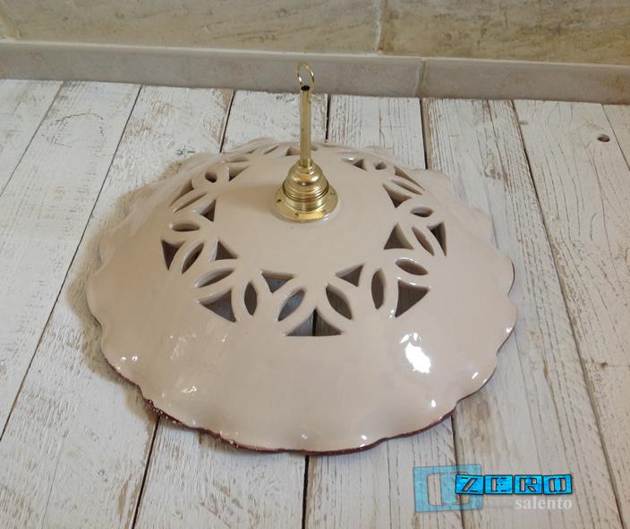 Piatto luce per lampada a soffitto in terracotta diametro 40 Luce a soffitto