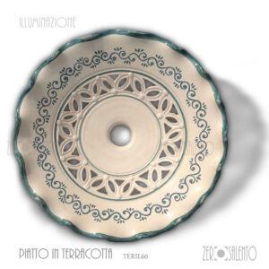 lampada-sospensione-bianca-decori-verde-traforata-TERIL60-Salento-in-cucina