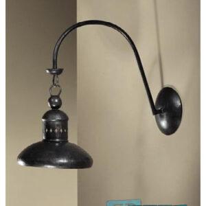 Lampada applique a campana in ferro battuto