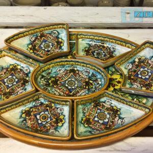 Antipastiera a moduli separati sovrapposti in Ceramica il Salento che crea