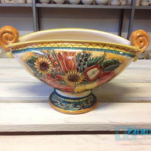 Porta Frutta in Terracotta ovale con manici Salento Terra di Tradizioni Vendita Online