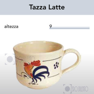 Tazza Latte con Galletto Salentino by Zerosalento