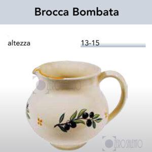 Brocca Bombata con Ramo Olive Salentino by Zerosalento
