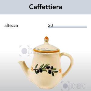 Caffettiera e Teiera con Ramo Olive Salentino by Zerosalento