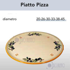 Piatto Pizza smalto olive in Terracotta Salentina by ZeroSalento TERCOOL026