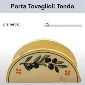 Porta Tovaglioli Tondo con Ramo Olive Salentino by Zerosalento