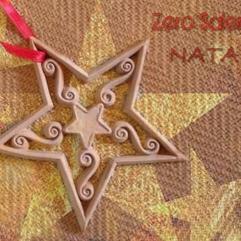 Addobbi albero Natale   Stella in Terracotta colore naturale