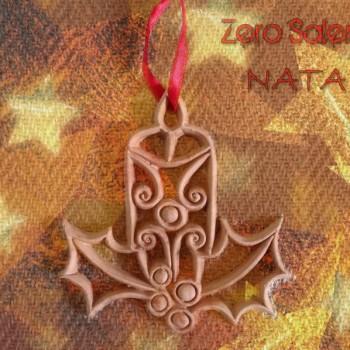 Addobbi albero Natale  in Terracotta colore naturale