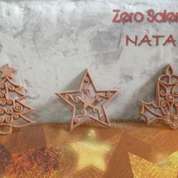 Addobbi per albero di Natale in colore Terracotta naturale