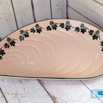 Antipastiera a forma di Cozza in Terracotta  smalto Edera TERCOED020