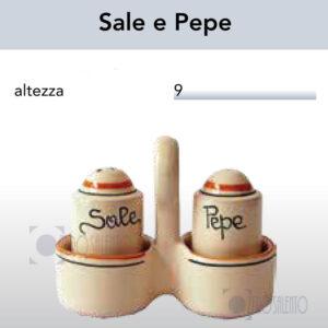 CONDITAVOLA Sale e Pepe in Terracotta - Ceramica decoro Olive by Zerosalento