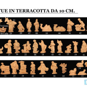 Statue in Terracotta per Presepe Natalizio cm10