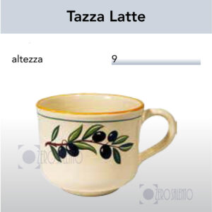Tazza Latte con Ramo Olive Salentino by Zerosalento