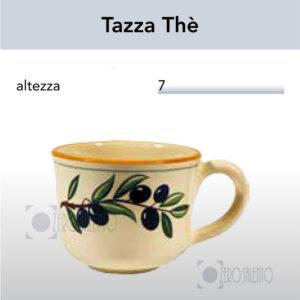 Tazza Thè - Te con Ramo Olive Salentino by Zerosalento