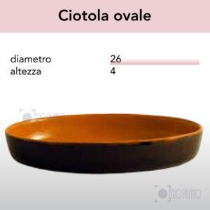 Ciotola Ovale serie Pirofile Bruna by ZeroSalento
