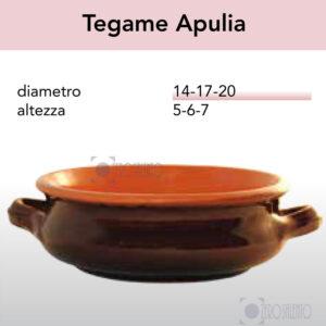 Tegame Apulia serie Pirofile Bruna by ZeroSalento