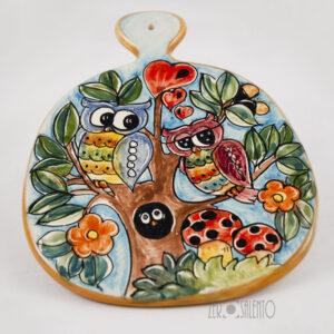 sottopentola taglieri ceramica civetta 01