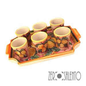 Terracotta Bicchierini Limoncello con Guantiera1 copia