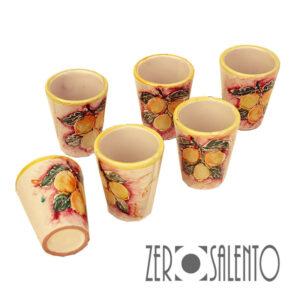 Terracotta Bicchierini servizio Limoncello