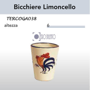 Bicchiere Limoncello in Terracotta con Galletto Salentino