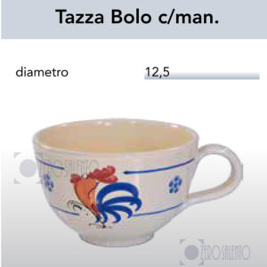 Tazza Bolo con manico con Galletto Salentino by Zerosalento