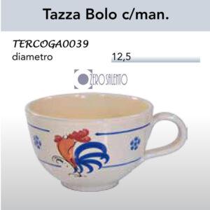 Tazza Bolo con manico in Terracotta con Galletto Salentino