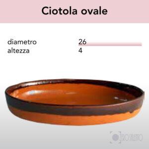 Ciotola Ovale - Pirofile in Ceramica per cottura serie Rustica
