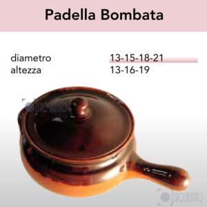 Padella Bombata - Pirofile in Ceramica per cottura serie Rustica