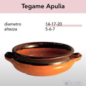 Tegame Apulia - Pirofile in Ceramica per cottura serie Rustica