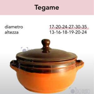 Tegame - Pirofile in Ceramica per cottura serie Rustica