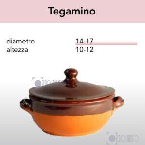 Tegamino in Terracotta Salento - Pirofile in Ceramica per cottura serie Rustica