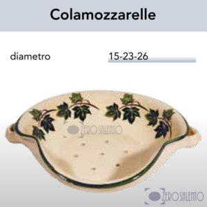 Colamozzarelle in Terracotta Ceramica con decoro Edera Salento