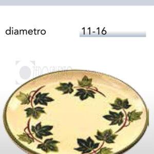 Piatto Colazione in Terracotta Ceramica con decoro Edera Salento
