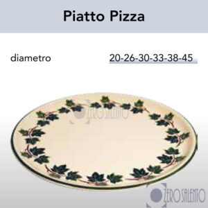 Piatto Pizza in Terracotta Ceramica con decoro Edera Salento
