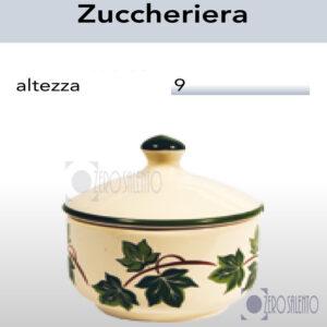 Zuccheriera in Terracotta Ceramica con decoro Edera Salento