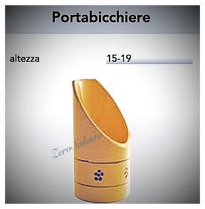 Portabicchiere e Bicchierini in Terracotta - Ceramica decoro Stelle Salentino