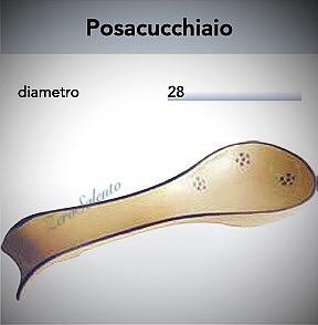 Posacucchiaio in Terracotta a Cucchiaio - Ceramica decoro Stelle Salento