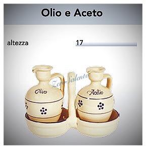 CONDITAVOLA Olio e Aceto in Terracotta - Ceramica decoro Stelle Salentino