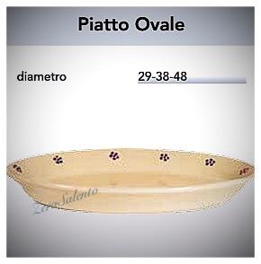 Piatto Ovale da portata in Terracotta - Ceramica decoro Stelle Salento