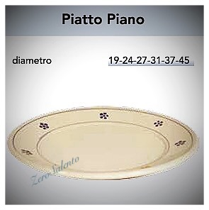 Piatto Piano in Terracotta - Ceramica decoro Stelle Salentino
