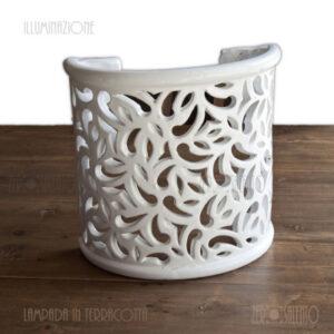 Lampada mezzaluna da muro TERIL51BI bianca