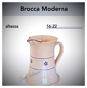 Brocca Caraffa Moderna Acqua e Vino in Terracotta base larga decoro Stelle Salento