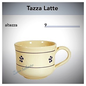 Tazza Latte con manico in Terracotta - Ceramica decoro Stelle Salento