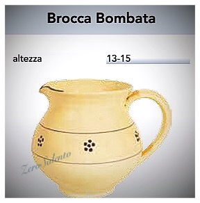 Brocca Bombata acqua e vino in Terracotta - Ceramica decoro Stelle Salento